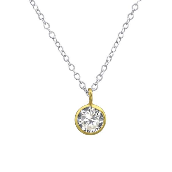 Jeweled Necklace FORZ25-TOP-CZA-R5-SP/GP/29914