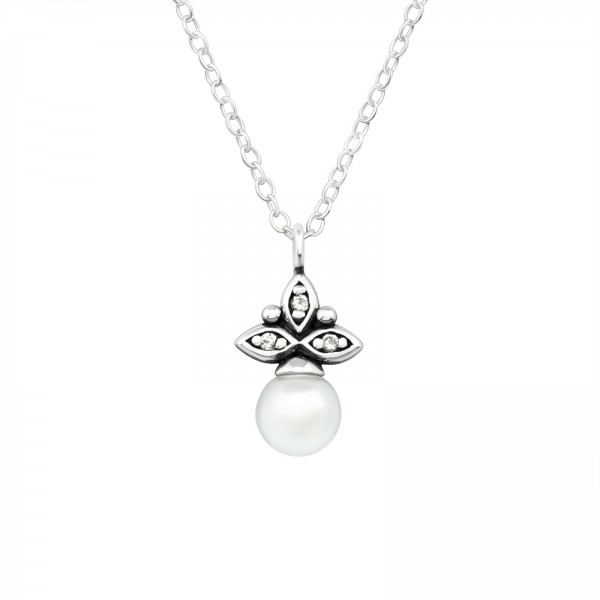 Jeweled Necklace FORZ25-TOP-JB10659-PPL5 OX/39862