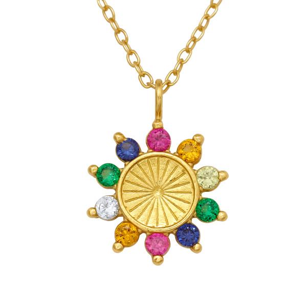 Jeweled Necklace FORZ25-TOP-JB13195-RBW2-GP/40208