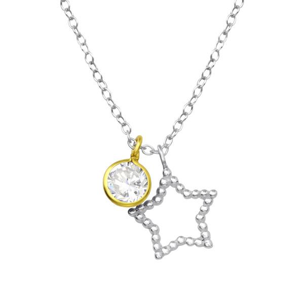 Jeweled Necklace FORZ25-TOP-JB6411-TOP-CZA-R5 SP/GP/35567