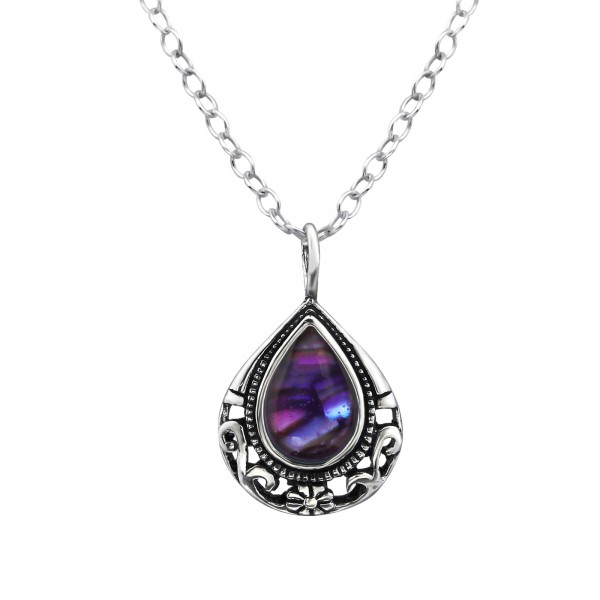 Jeweled Necklace FORZ25-TOP-JB7473-SHELL-E OX/30861