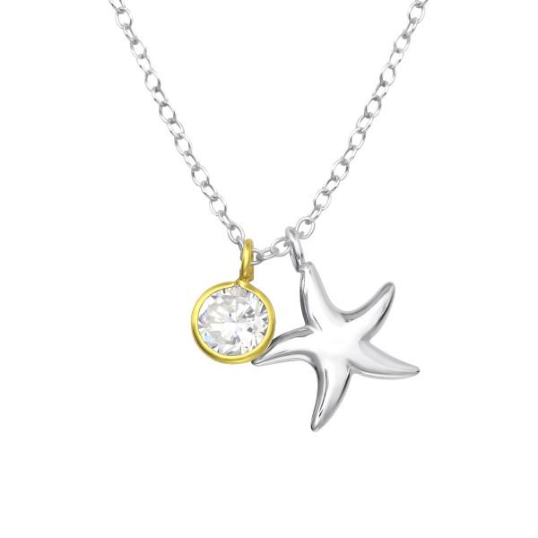 Jeweled Necklace FORZ25-TOP-JB9714-TOP-CZA-R5 SP/GP/35568