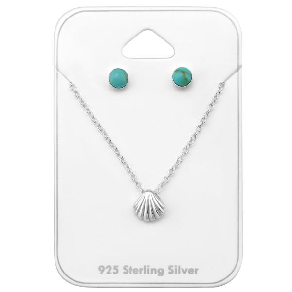 Set & Jewelry on Card CCRD-4M-SHELL TQ/FORZ25-BH-JB6389/33942