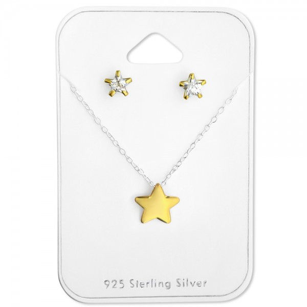 Set & Jewelry on Card CESS-5-GP/FORZ25-BH-CCST22-GP/28932