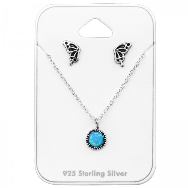 Set & Jewelry on Card ES-APS2774 OX/FORZ25-TOP-JB7332-OX AZURE/33949