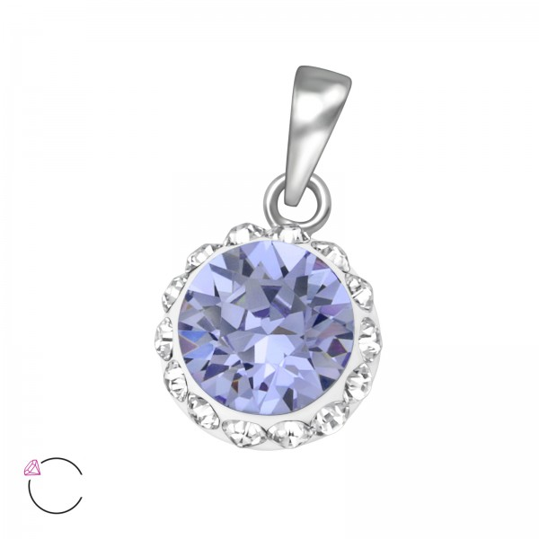 Jeweled Pendant PD-CCRD42-CV RP-SWR LAV/CRY/39468