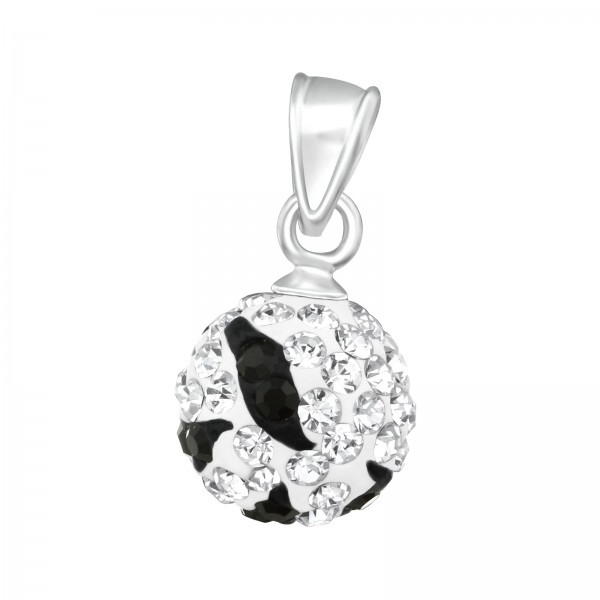 Jeweled Pendant PD-FB10 ZS (PP-12) CRY/JET/12306