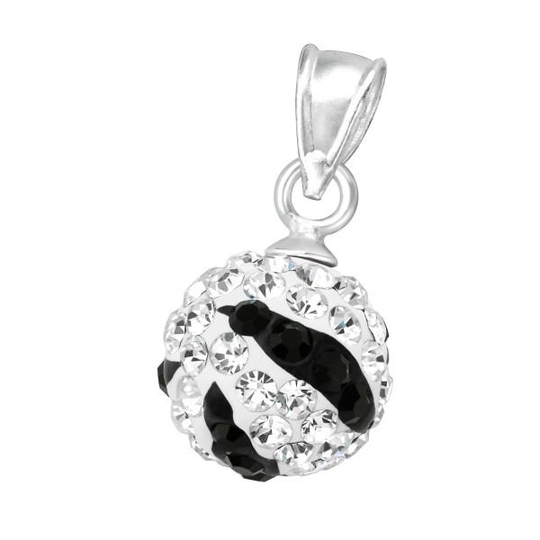 Jeweled Pendant PD-FB12 ZS CRY/JET/8529