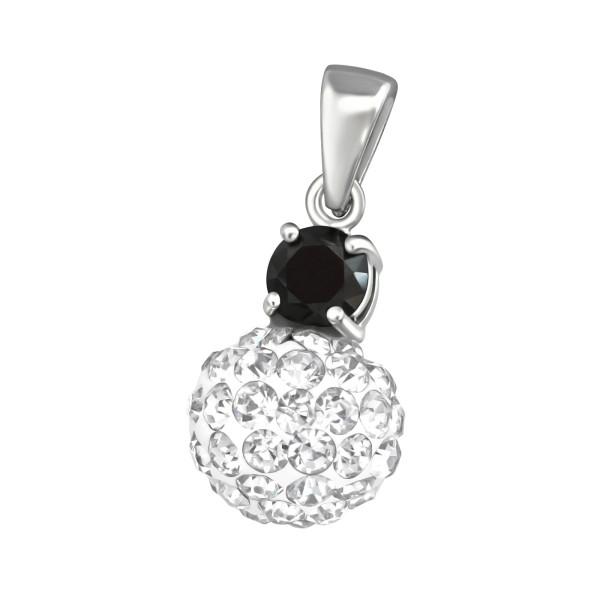 Jeweled Pendant PD-JB4089-JB5505-FB8-RP JET/CRY/37623