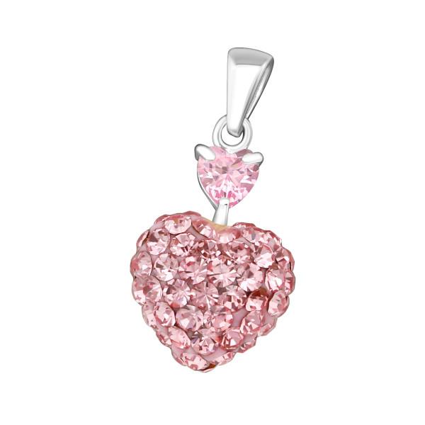 Jeweled Pendant PD-JB5507-FHT10 (PP-12) PK/LT.R/14716