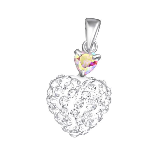 Jeweled Pendant PD-JB5507-FHT10-RP (PP-12) AB.PK/CRY/37101