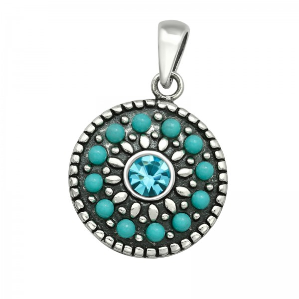Jeweled Pendant PD-JB8101 OX/40926