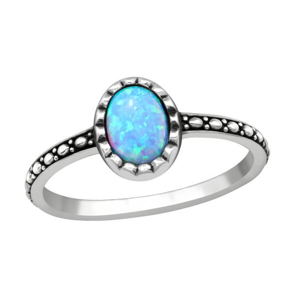 Jeweled Ring RG-JB11089-OX AZURE/40661