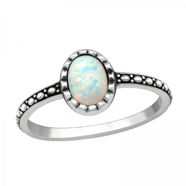 Jeweled Ring RG-JB11089 OX FIRE SNOW/40649