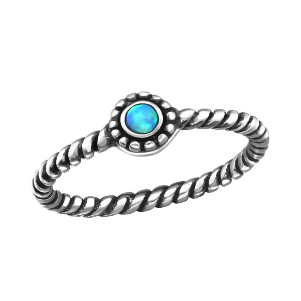 Jeweled Ring RG-JB7375-OX AZURE/27717