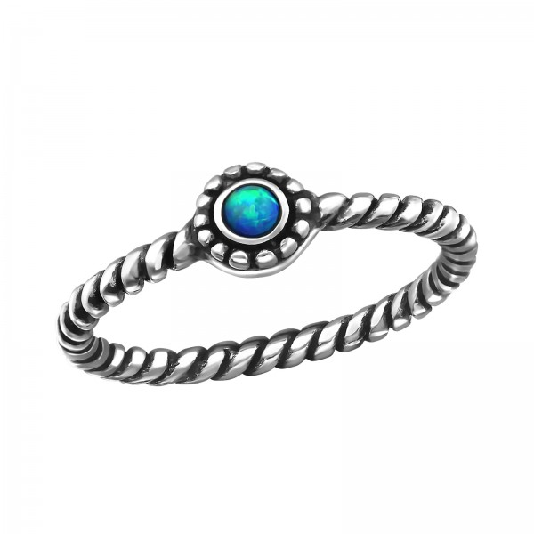Jeweled Ring RG-JB7375-OX PACIFIC BLUE/23816