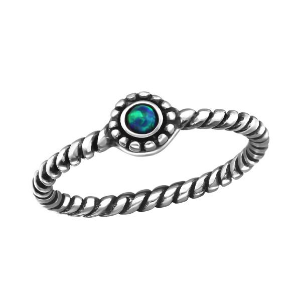 Jeweled Ring RG-JB7375-OX PEACOCK/34972