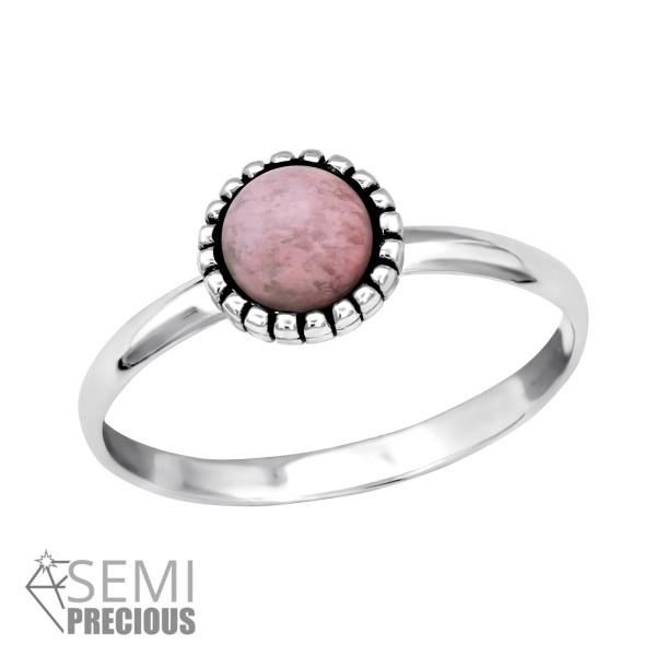 Jeweled Ring RG-JB7547-S OX RHODONITE/30315