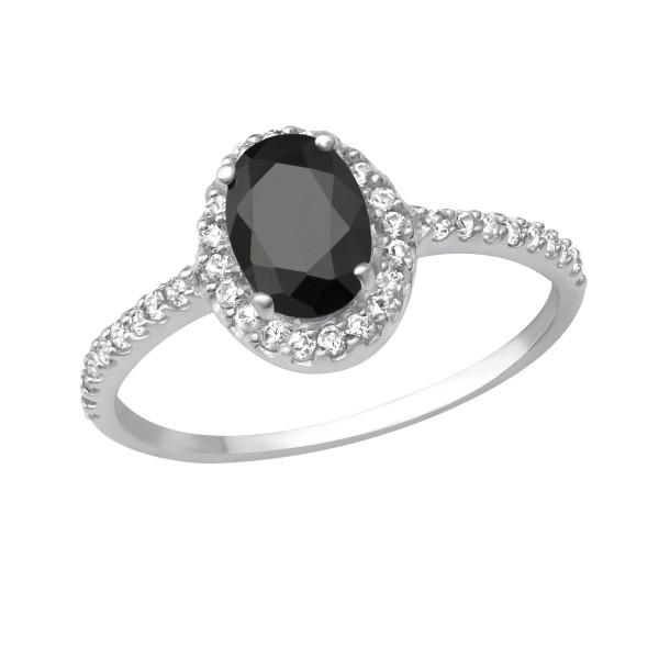 Jeweled Ring RG-JB7629 JET/27931