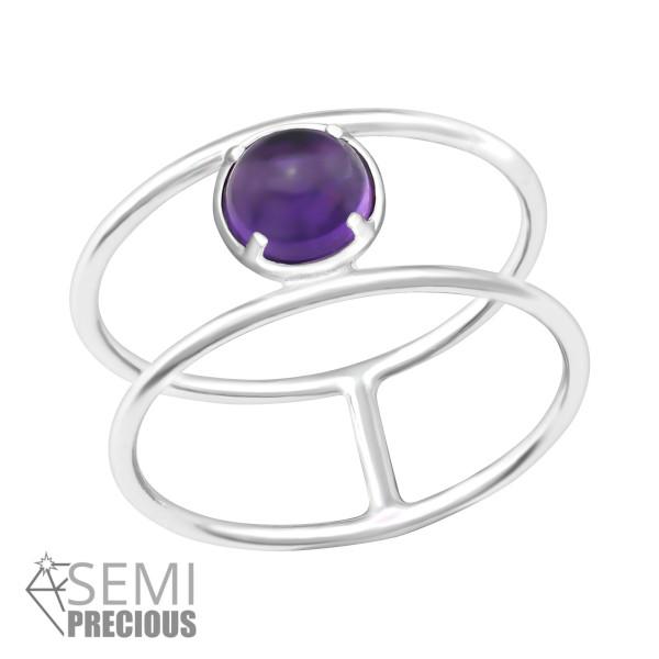 Jeweled Ring RG-JB8518-S AMETHYST/36193