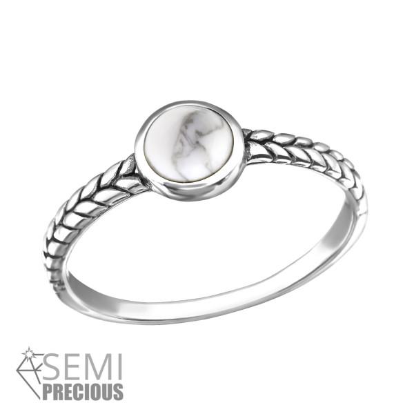 Jeweled Ring RG-JB8577-S-OX HOWLITE/34653