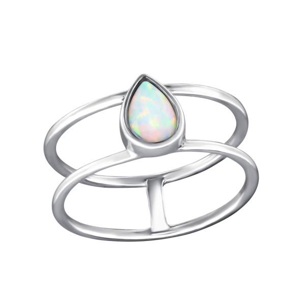 Jeweled Ring RG-JB8581-OX FIRE SNOW/33044