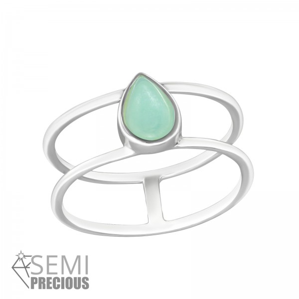Jeweled Ring RG-JB8581-S AMAZONITE/33008