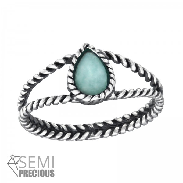 Jeweled Ring RG-JB8583-S-OX AMAZONITE/32426