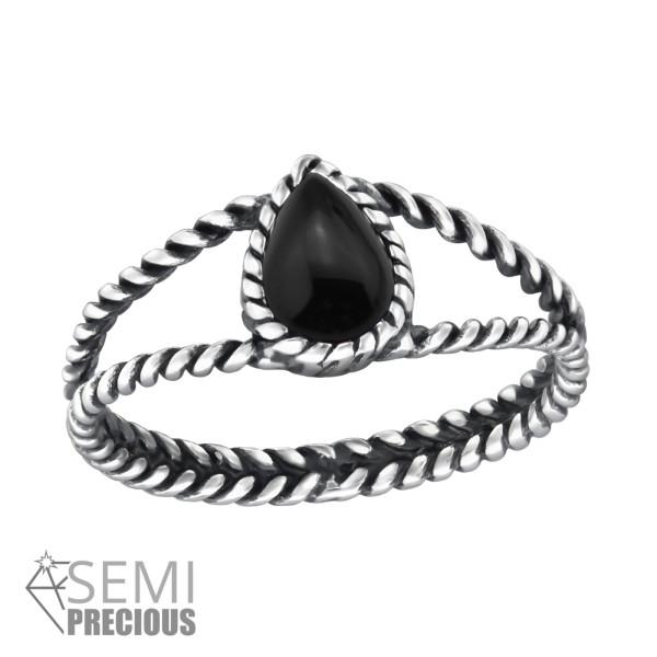 Jeweled Ring RG-JB8583-S-OX BLACK ONYX/31788