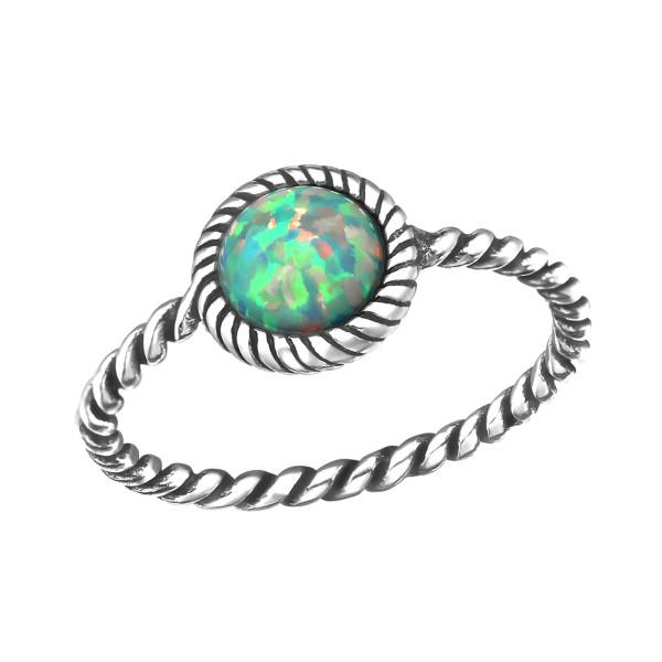 Jeweled Ring RG-JB8584-OX MOON YELLOW/30665