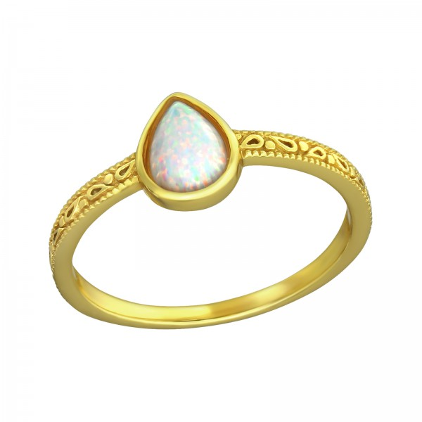 Jeweled Ring RG-JB8588-GP FIRE SNOW/36329