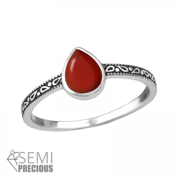 Jeweled Ring RG-JB8588-S-OX RED.ONYX/36190