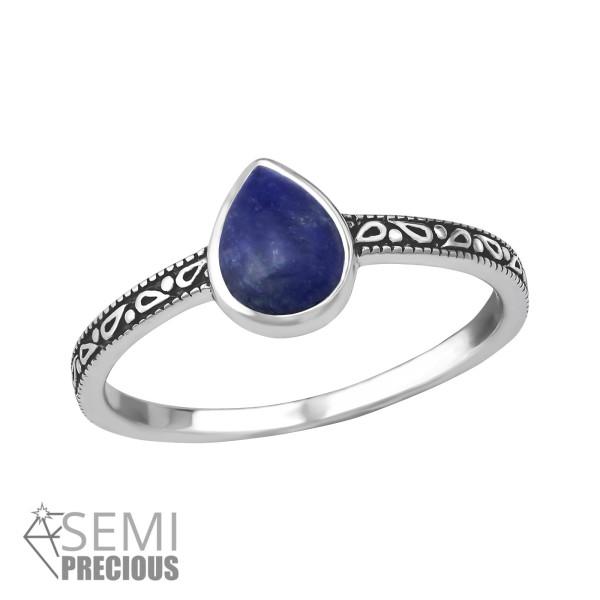 Jeweled Ring RG-JB8588-S-OX SODALITE/35382