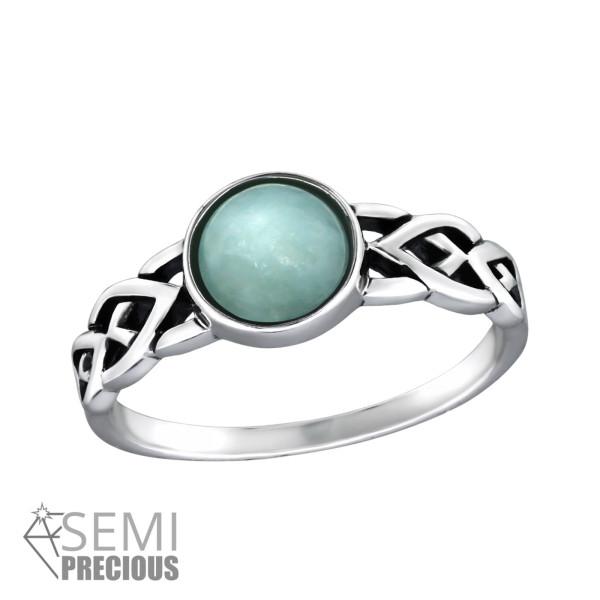 Jeweled Ring RG-JB8591-S-OX AMAZONITE/32429