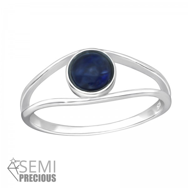 Jeweled Ring RG-JB8592-S SODALITE/35602