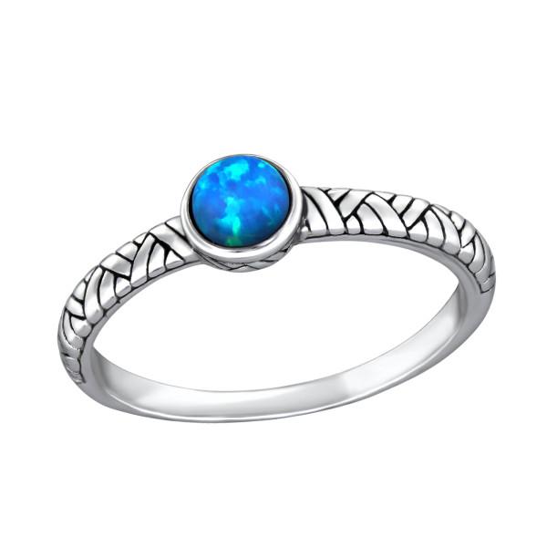Jeweled Ring RG-JB8593-OX PACIFIC BLUE/31474