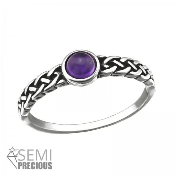 Jeweled Ring RG-JB8595-S-OX AMETHYST/32431