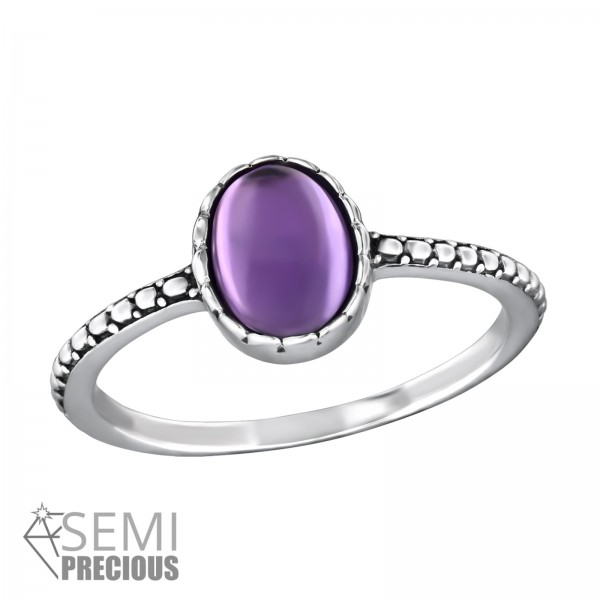 Jeweled Ring RG-JB8600-S-OX AMETHYST/32432