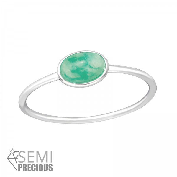 Jeweled Ring RG-JB8738-S AMAZONITE/35603