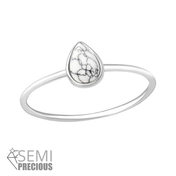 Jeweled Ring RG-JB8741-S-HOWLITE/35719