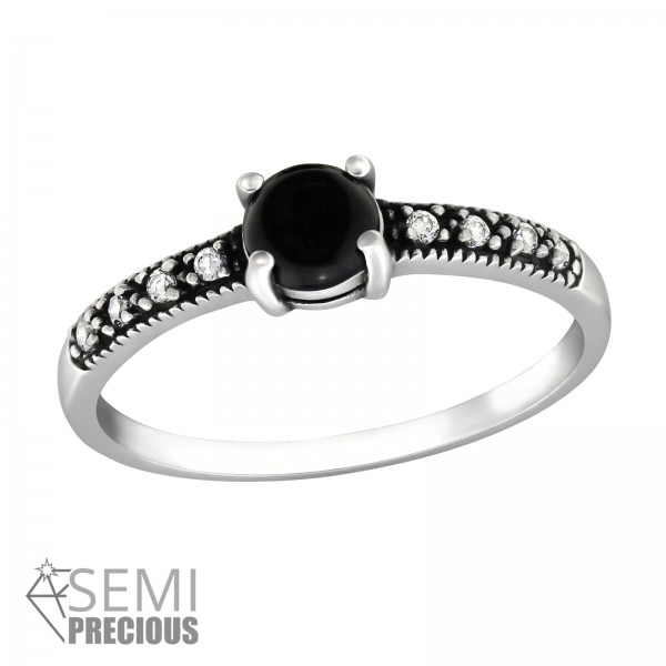 Jeweled Ring RG-JB9363-S-OX CRY/BKO/34655