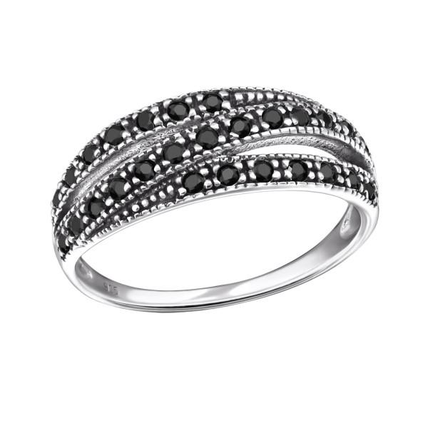Jeweled Ring RG-JB9396 OX BK.SPN/31585