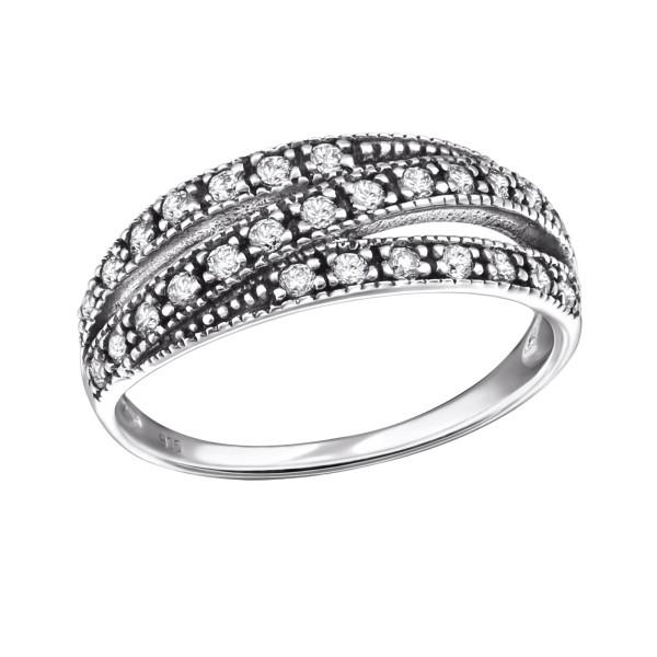 Jeweled Ring RG-JB9396 OX CRY/31586