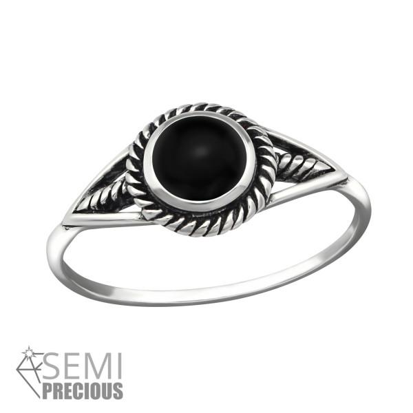 Jeweled Ring RG-JB9521-S-OX BK.ONYX/40696