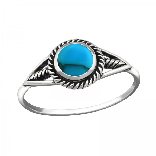 Jeweled Ring RG-JB9521-SHELL-OX BL.TQ/38483