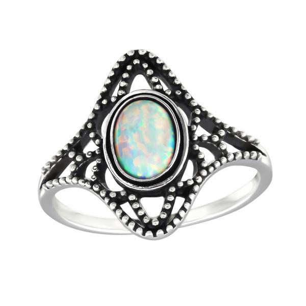 Jeweled Ring RG-JB9584-OX FIRE SNOW/32324