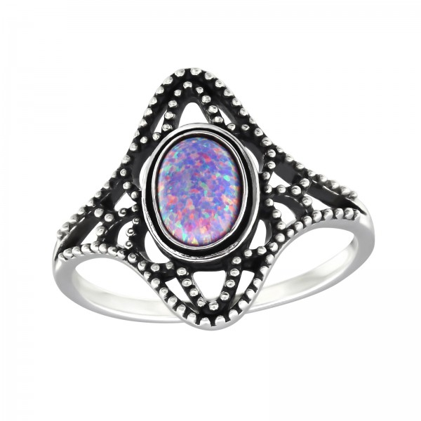 Jeweled Ring RG-JB9584-OX MULTI LAV/32325