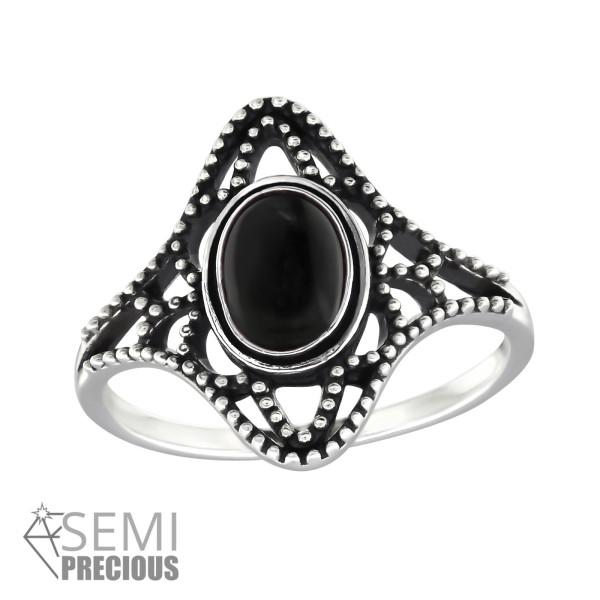 Jeweled Ring RG-JB9584-S OX BK.ONYX/32327