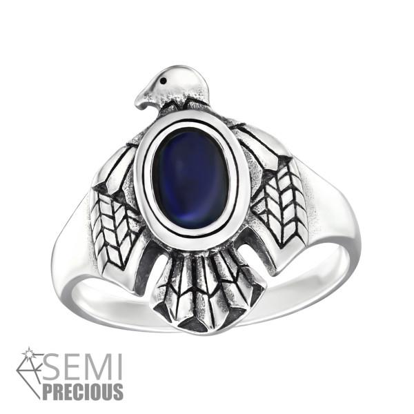 Jeweled Ring RG-JB9587-S-OX SODALITE/32333