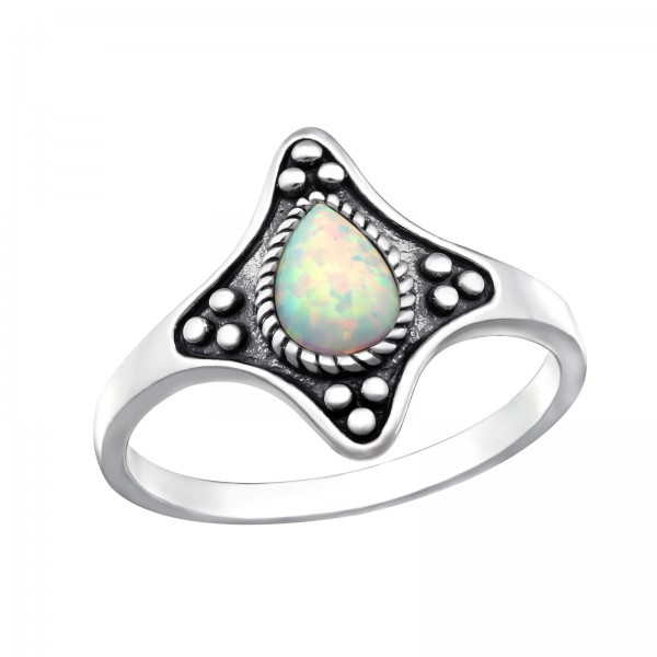 Jeweled Ring RG-JB9621-OX FIRE SNOW/32335